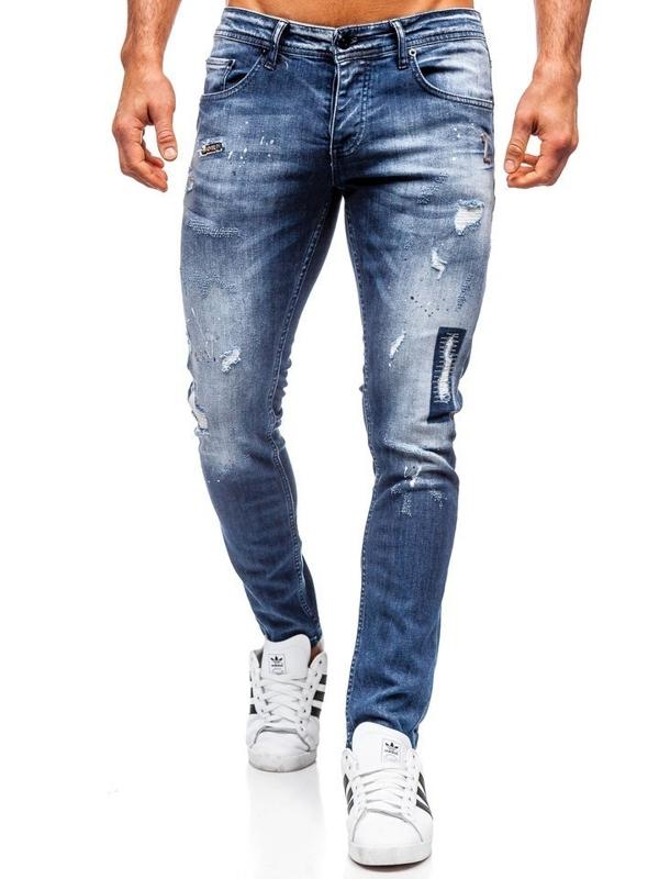 Tmavě modré pánské džíny regular fit Bolf 4012