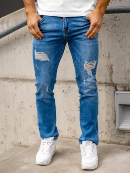 Tmavě modré pánské džíny regular fit Bolf KA1700