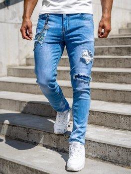 Tmavě modré pánské džíny skinny fit Bolf 85003S0