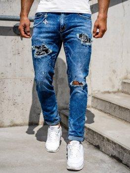 Tmavě modré pánské džíny skinny fit Bolf 85004S0