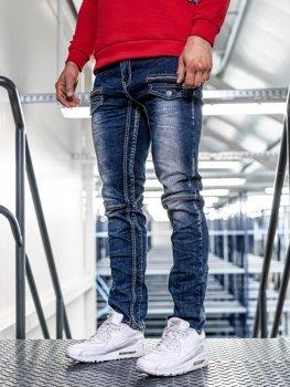 Tmavě modré pánské džíny straight leg Bolf KA9915