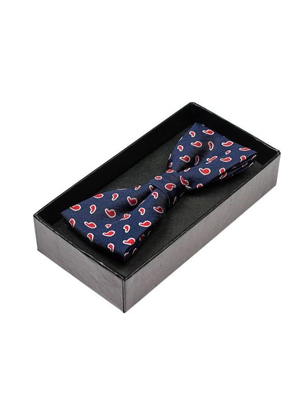 Tmavě modro-červený pánský elegantní motýlek Bolf M009