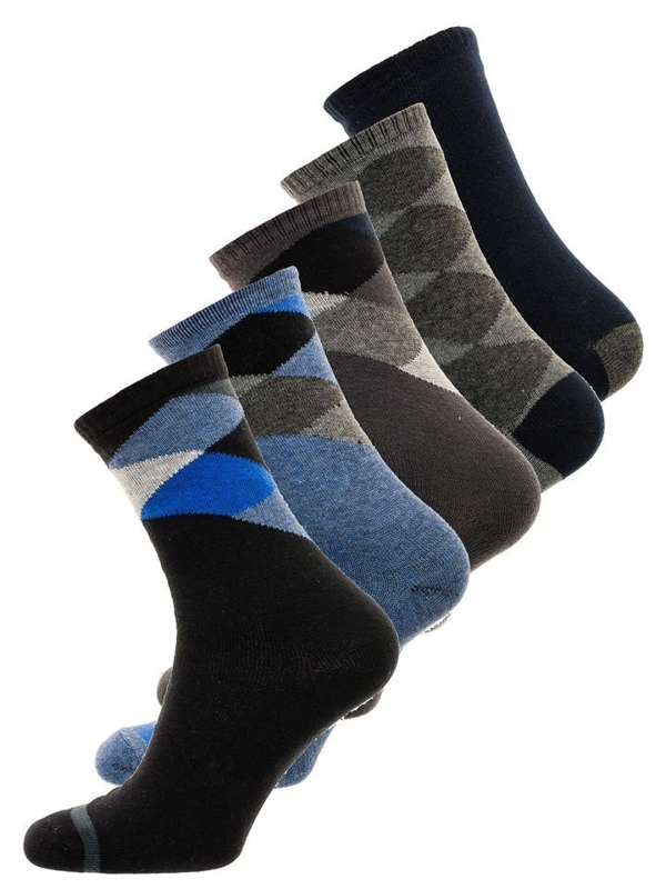 Vícebarevné pánské ponožky Bolf X10074-5P 5 PACK