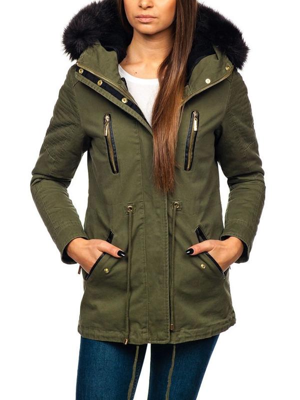 Zelená dámská zimní bunda Bolf M16