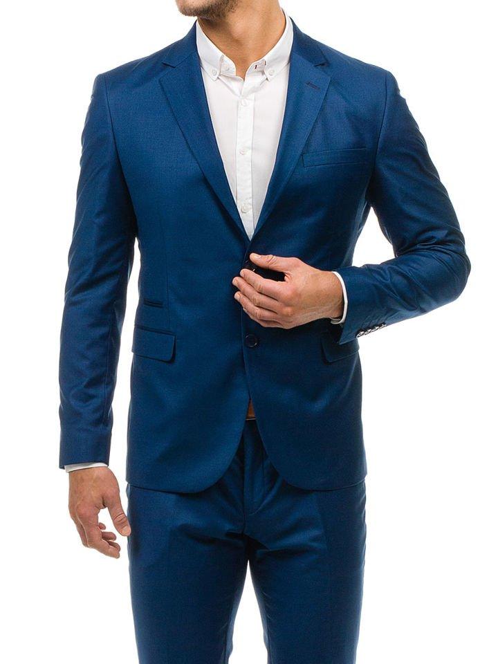 12de2c79fd Tmavě modrý pánský oblek-3 Bolf 1000
