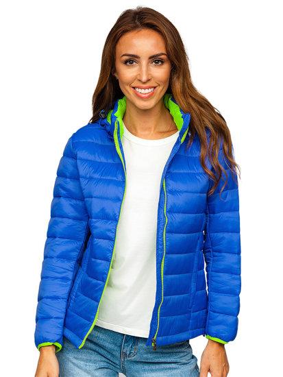 Světle modrá dámská přechodová bunda Bolf AB054