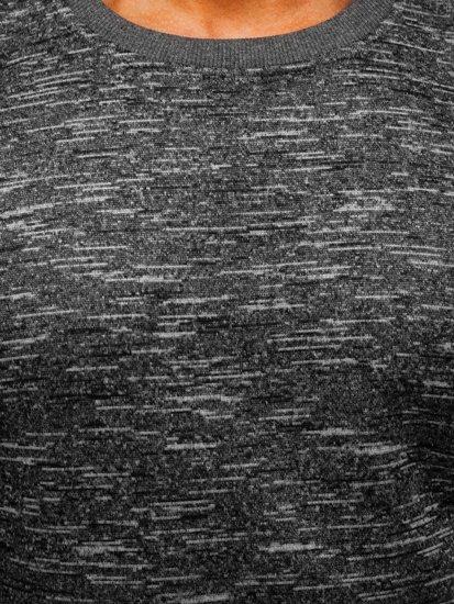 Antracitová pánská mikina bez kapuce Bolf 2001-4