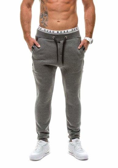 Antracitové pánské baggy kalhoty Bolf K14