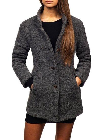 Antracitový dámský kabát Bolf 1950