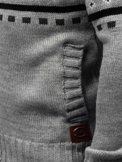 Antracitový pánský propínací svetr Bolf 585