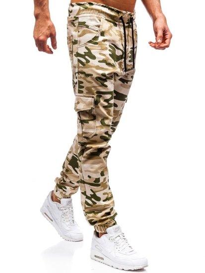 Béžové pánské jogger kapsáče Bolf 0404