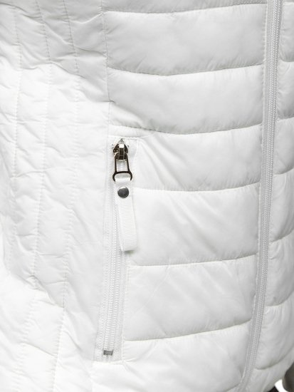 Bílá dámská prošívaná přechodová bunda Bolf B0101