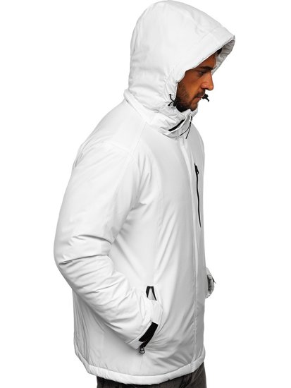 Bílá pánská zimní lyžařská sportovní bunda Bolf HH011