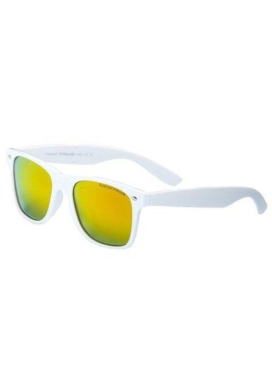 Bílé pánské sluneční polarizační brýle Bolf PLS474