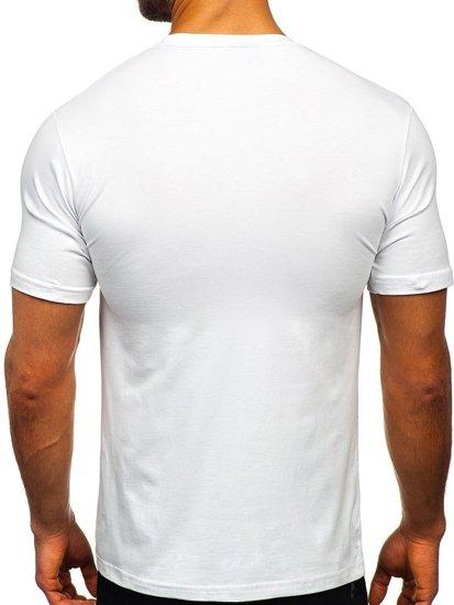 Bílé pánské tričko bez potisku Bolf 192132
