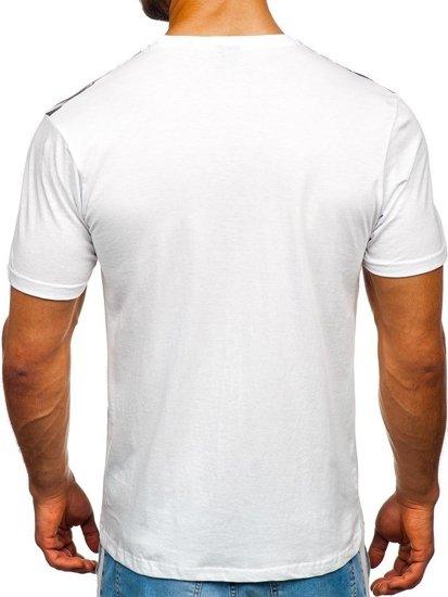 Bílé pánské tričko s potiskem Bolf 14227-1