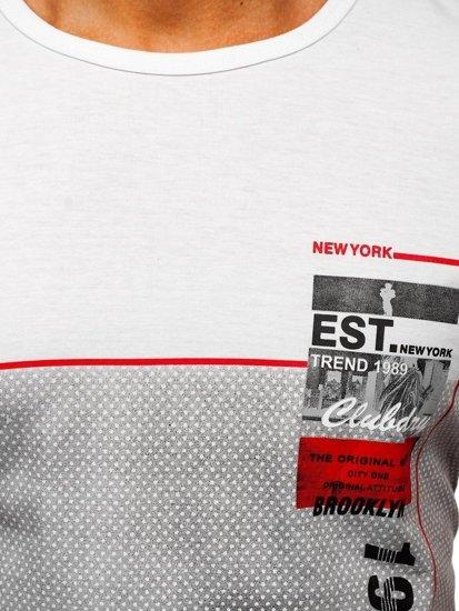Bílé pánské tričko s potiskem Bolf SS10909