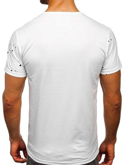 Bílé pánské tričko s potiskem Bolf SS11015