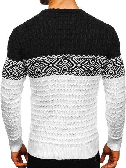 Bílý pánský svetr Bolf 309