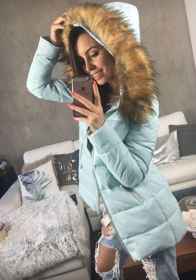 Blankytná dámská zimní bunda Bolf 8070