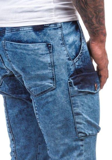 Blankytné pánské džínové baggy kalhoty Bolf 191