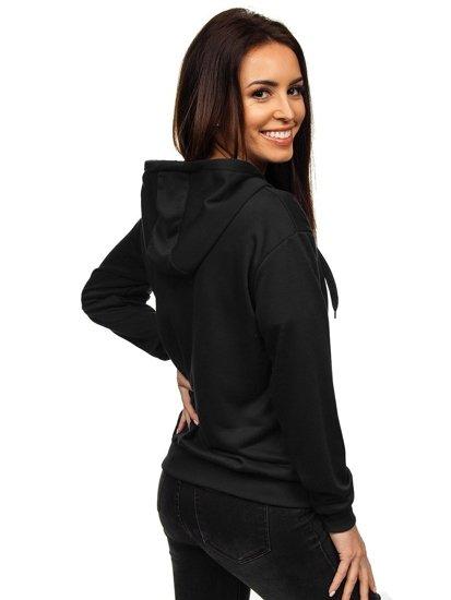 Černá dámská mikina s kapucí Bolf WB1005