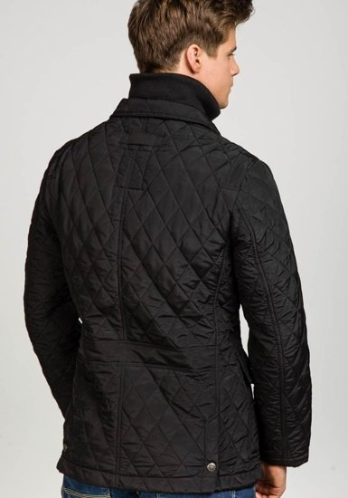 Černá pánská elegantní přechodová bunda Bolf 101