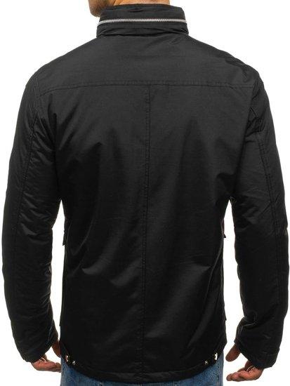Černá pánská elegantní přechodová bunda Bolf F202