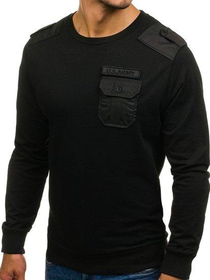 Černá pánská mikina Bolf 0441