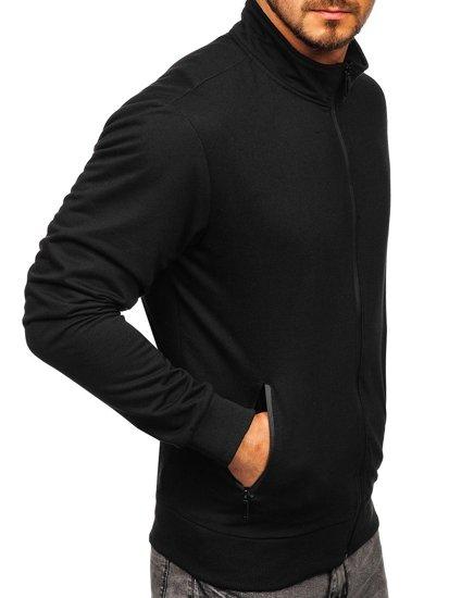 Černá pánská mikina na zip bez kapuce Bolf JX9832