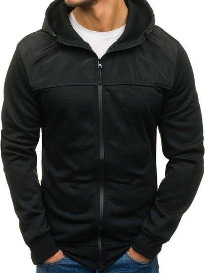 Černá pánská mikina s kapucí Bolf 2852