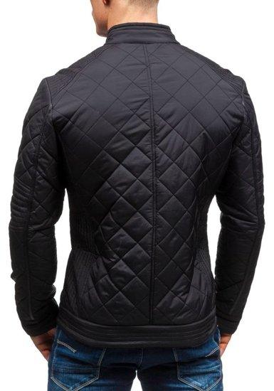 Černá pánská přechodná bunda Bolf 1078
