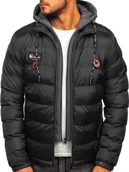 Černá pánská sportovní zimní bunda Bolf 50A199