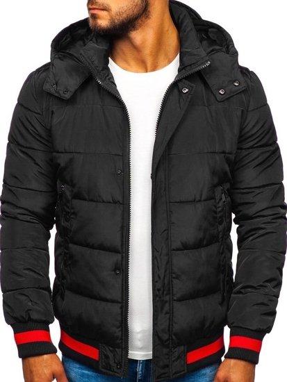 Černá pánská sportovní zimní bunda Bolf JK393