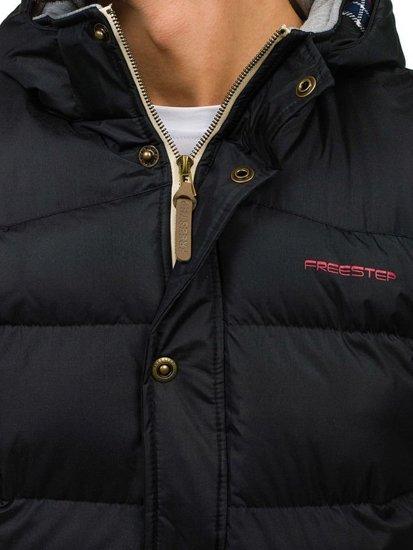 Černá pánská vesta s kapucí Bolf K113