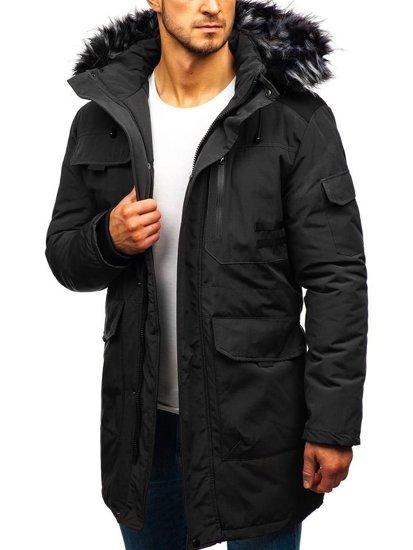 Černá pánská zimní bunda Bolf 201809