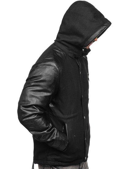Černá pánská zimní bunda Bolf 3356