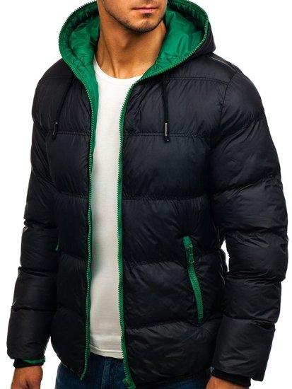 Černá pánská zimní bunda Bolf 8851