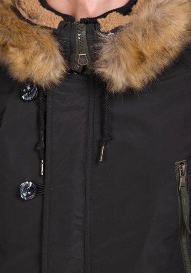 Černá pánská zimní parka Bolf 1045C
