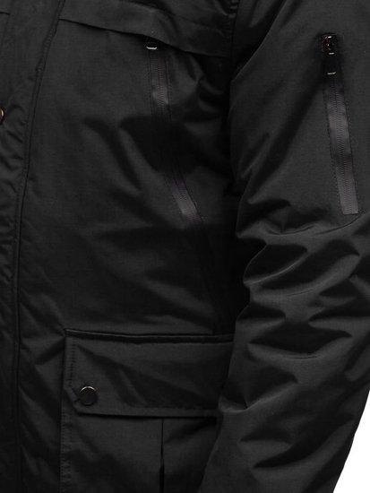 Černá pánská zimní parka Bolf R101