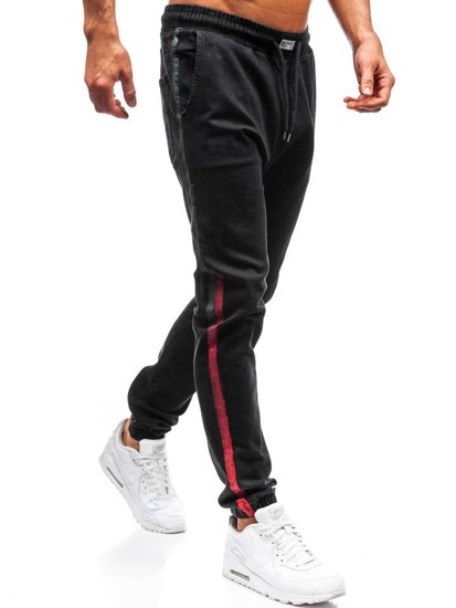 Černé pánské džínové jogger kalhoty Bolf 2053