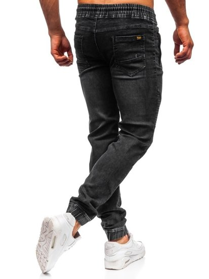 Černé pánské džínové jogger kalhoty Bolf HY621