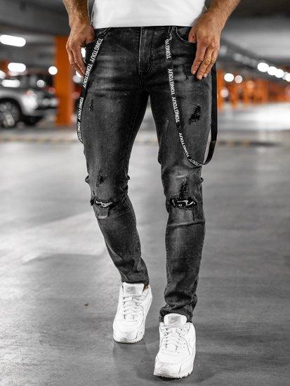 Černé pánské džíny slim fit Bolf 61008S0