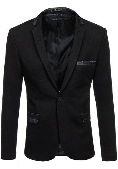 Černé pánské elegantní sako Bolf M004