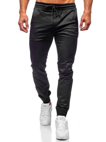 Černé pánské jogger kalhoty Bolf KA1005