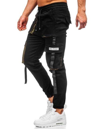 Černé pánské jogger kapsáče Bolf KA1911