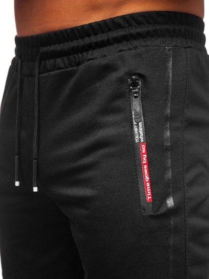 Černé pánské teplákové kraťasy Bolf JX366