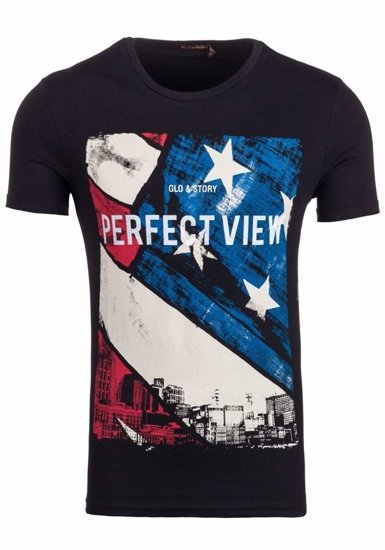Černé pánské tričko Bolf 7428