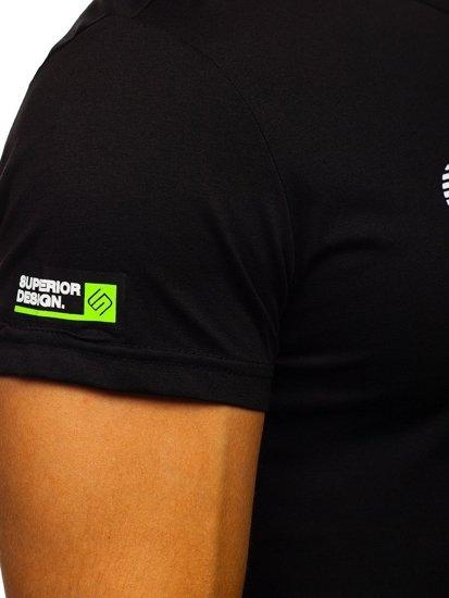 Černé pánské tričko s potiskem Bolf KS11135