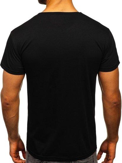 Černé pánské tričko s potiskem Bolf KS1943T